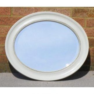 morgan ivory oval mirror