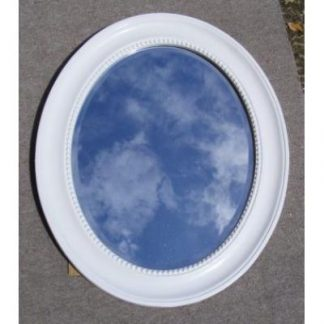 morgan white oval mirror
