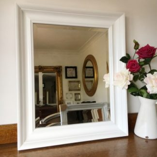 White and Ivory Contemporary Mirrors