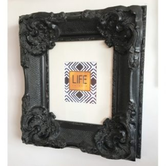 california black picture frame 10x12