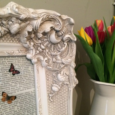 california ivory picture frame 10x12