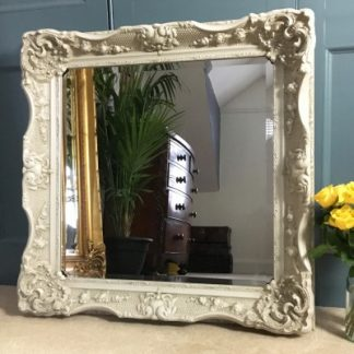 california ivory mirror 24x24