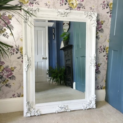 amalie white mirror 24x36