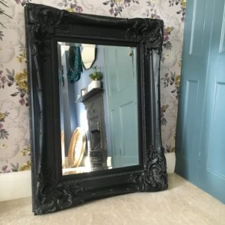 Monte Carlo Black Ornate Mirror 24x36 Ayers And Graces