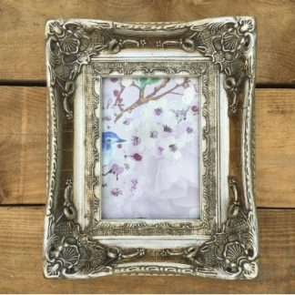 aston champagne silver picture frame 5x7