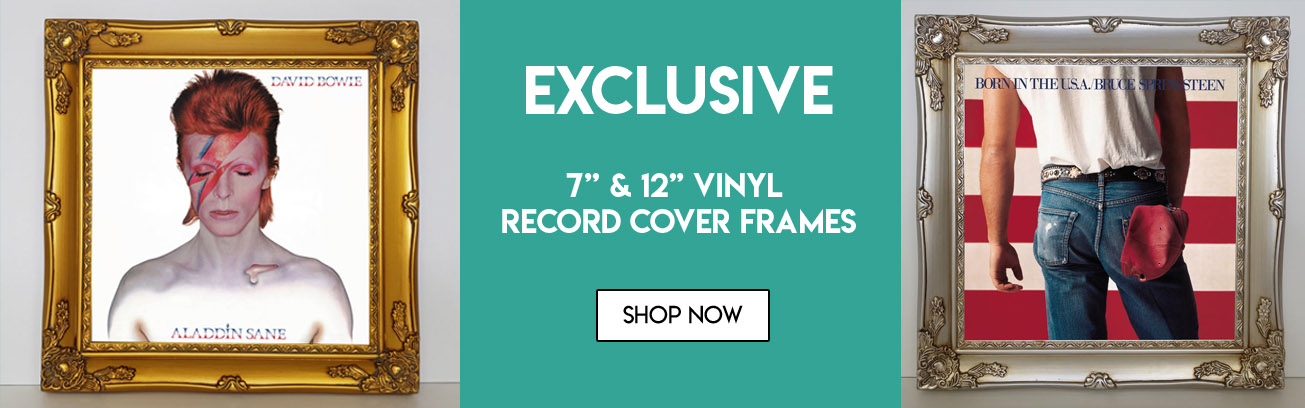vinyl record cover frames header